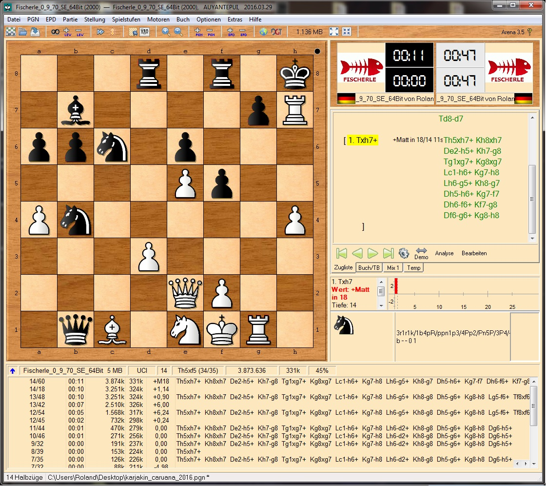 Fischerle 0.9.70 SE on Reinfeld's WaC Position # 213